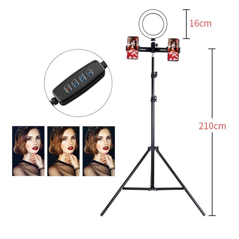Phone Photography Enhancing LED Studio Camera selfie Ring Light 16cm With Tripod USB Plug For Phone Holder Make Up Video Shoot