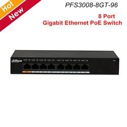 Dahua PoE коммутатор 8 портов гигабитный переключатель питания по сети Ethernet слой два коммерческих переключателя MAC Автоматическое обучение ста...