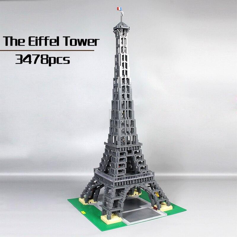 DHL Lepin 17002 3478pcs The Eiffel Tower Model Building Bricks Kits Set Toys Compatible Legoingly 10181 Birthday Gift