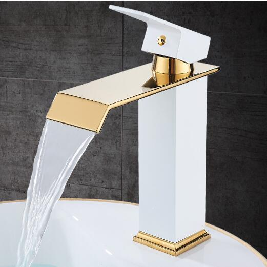 New Arrivals Bathroom Faucet hot and cold  Square Brass Basin Faucet Waterfall Sink Faucet Single Handle water tap New Arrivals Bathroom Faucet hot and cold  Square Brass Basin Faucet Waterfall Sink Faucet Single Handle water tap