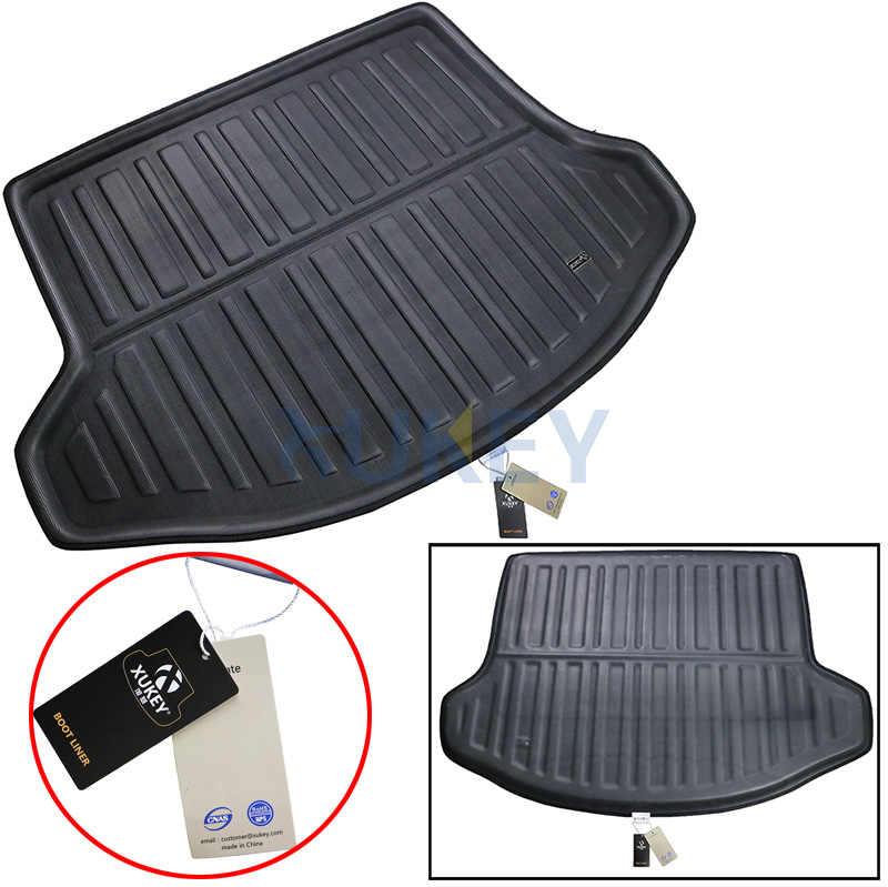Задний багажник лайнер грузовой загрузочный коврик для KIA Sportage 2011-2015 пол лоток протектор ковер грязь Kick Pad 2012 2014 2013 R SL