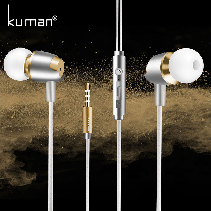 Kuman Bass Headsets Sport Earphone with Microphone Super In Ear Headset For iphone xiaomi huawei Phone PC Gaming YL-HW4