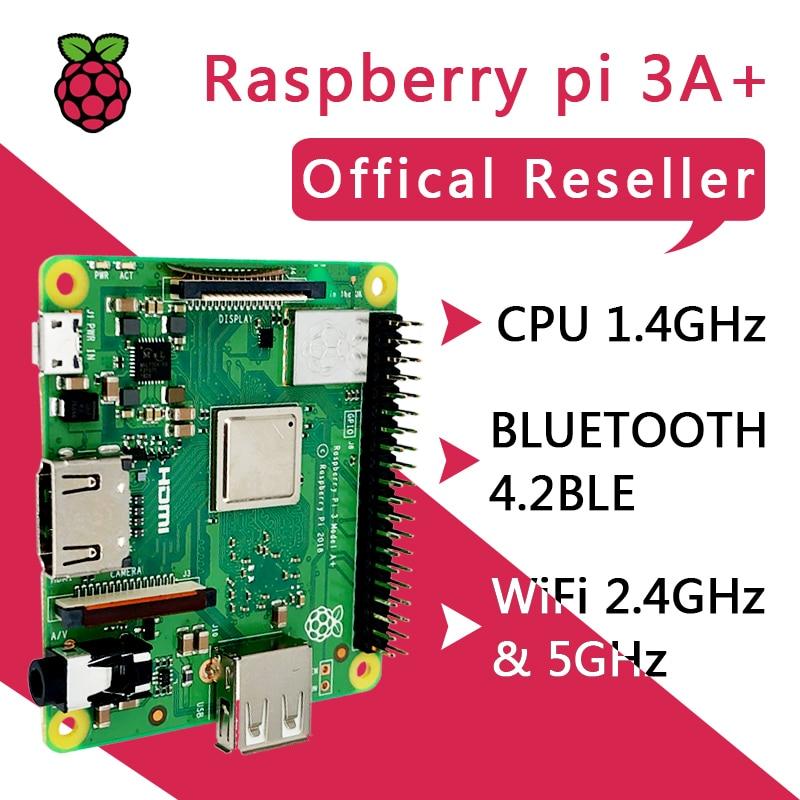 Nuevo Raspberry Pi 3 modelo A + Plus CPU de 4 núcleos igual que Raspberry Pi 3 Modelo B + Pi 3A + con WiFi y Bluetooth