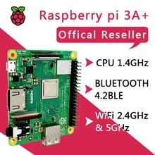 Новый Raspberry Pi 3 Model A + Plus 4 ядерный процессор BMC2837B0 512M RAM Pi 3A + с Wi Fi и Bluetooth