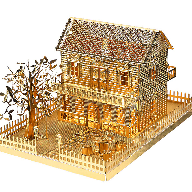 New Arrival Piececool 3D Metal House Puzzle Toy Assembly Building Kits DIY Architecture Model Villa Funny Toys For Kids Gift