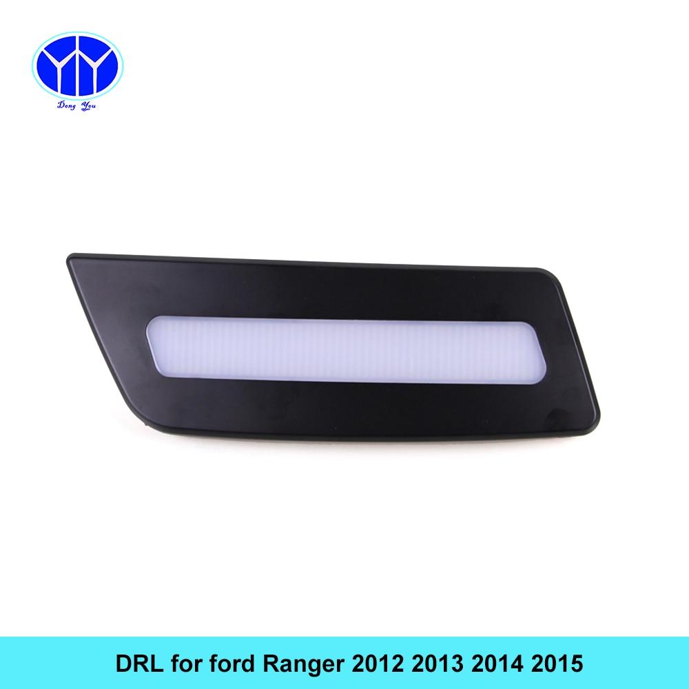 ДХО автомобильный комплект для Форд рейнджер 2012~2015 светодиодные дневные ходовые свет бар реле авто противотуманные фары супер яркий дневного света, для автомобиля светодиодные ДХО