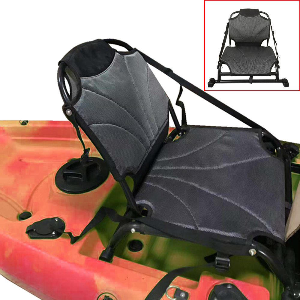 Kayak Canoe Aluminium Chair Seat Sit On Top Backrest Seat Lightweight Back Rest Chair