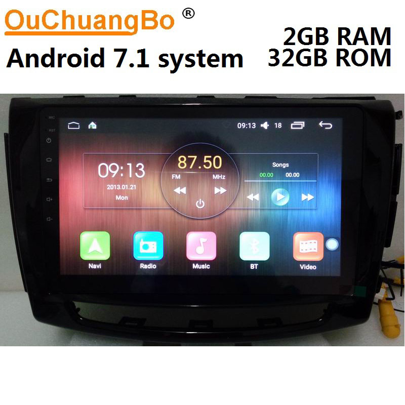 Ouchuangbo car multimedia gps radio for Great Wall wingle steed 6 2014-2018 support BT aux navi spanish