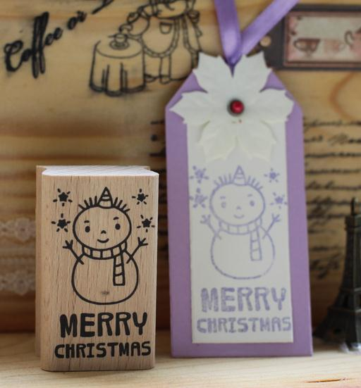 Merry Christmas diy greeting card snowman Wood rubber stamp Personalized Custom Wedding Invitation Card Seal Date Name Stamp DIY 3d navidad merry christmas postcard tree greeting cards postcards birthday gift message card xmas thanksgiving card