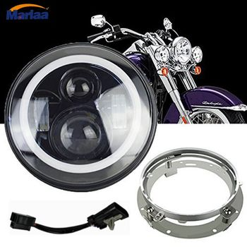 7Inch LED Headlight for Harley Davidson Projector Hi/Lo Beam LED Light Bulb with Ring Mounting Bracket For Harley Model harley davidson headlight price