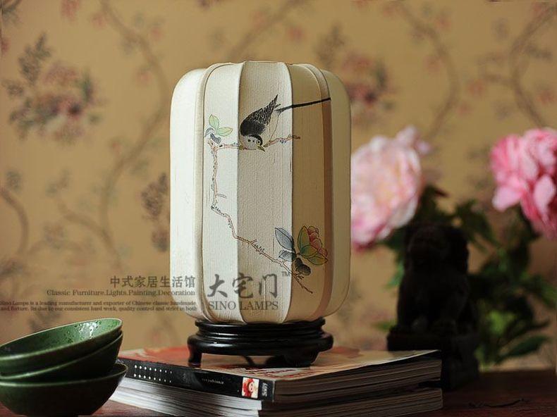 TUDA 19x26 cm livraison gratuite Style chinois classique peint à la main lampe de Table en soie lampe de Table pour chambre salon salle d'étude