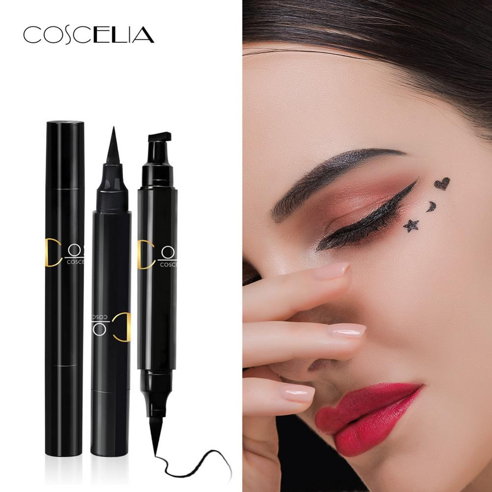 COSCELIA Pencil Makeup-Stamps Eyeliner Waterproof Double-Ended Black Brand Yes