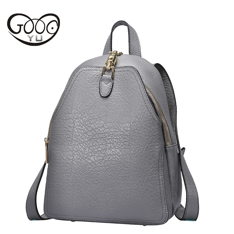 цена на GOOG.YU 100% Real Soft Genuine Leather Women Backpack Woman Daily Backpack Girl School Female Backpack Casual Shoulder Bags