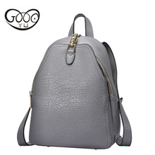 GOOG.YU 100% Real Soft Genuine Leather Women Backpack Woman Daily Backpack Girl School Female Backpack Casual Shoulder Bags(China)