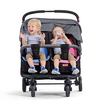 2019 twins baby stroller sitting lying folding two seat double twin stroller cart