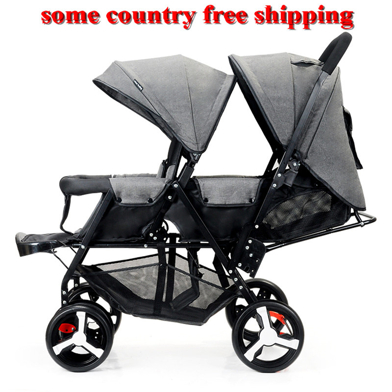 Magnificent Us 89 0 Twin Strollers Front Rear Pram Double Seat Stroller Big And Small Baby Stroller Pram Second Baby Twin Stroller Transport In Mutiple Stroller Machost Co Dining Chair Design Ideas Machostcouk
