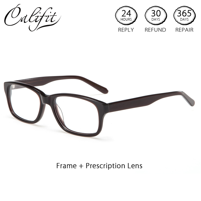 a3c80d5173 CALIFIT Vintage Design Myopia Glasses Women With Prescription Lenses Color  Tint Optical Eye Glasses Men Astigmatism Spectacles