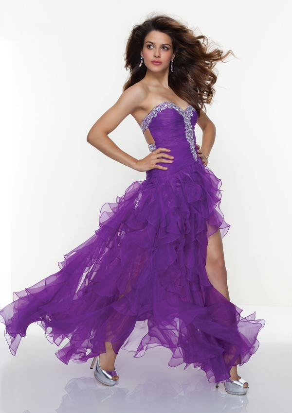 Popular High Low Purple Prom Dresses-Buy Cheap High Low Purple ...