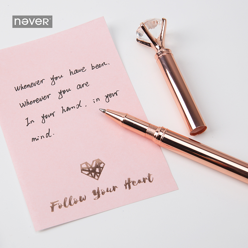 Image 4 - Never Rose Gold Series Stationary Set Metal Pen Memo Pad Push Pins Washi Tape Paper Clips School Office Supplies Gift Stationary-in Stationery Set from Office & School Supplies
