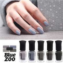 Yfashion 12ml Women Girls Elegant Grey Nail Polish