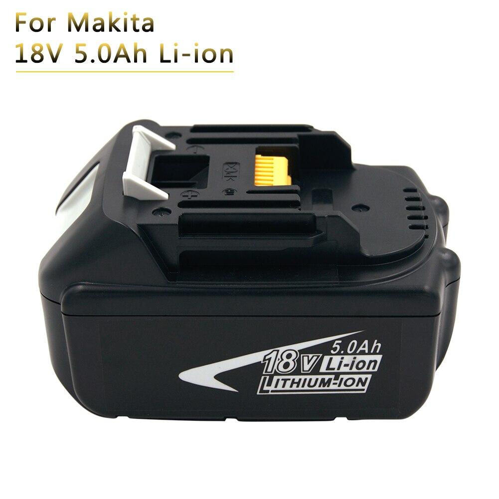 5000 mah BL1850 Au Lithium Batterie pour Makita 18 v Batterie 5.0Ah Bl1830 BL1840 BL1860 LXT400 194204-5 Rechargeable Puissance outil