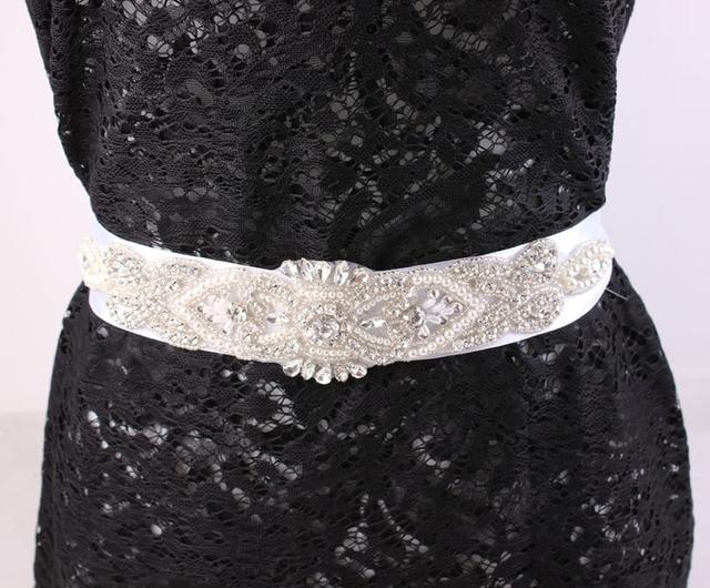 Bridal Sash Belt  Dress Sash Belt Rhinestone  Sash Belt Rhinestone Sash Belt white Ribbon