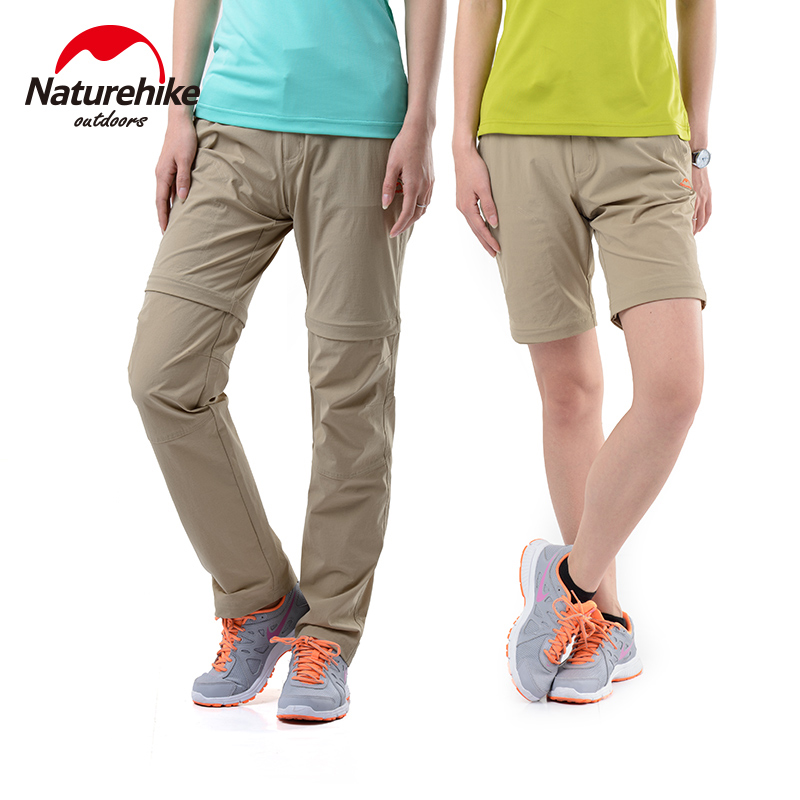 Naturehike hiking pants men camping sports trousers Detachable Two parts sportswear male breathable outdoor quick dry clothing цена