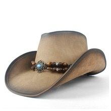Новые модные женские мужские Ретро винтажные с бирюзой кожаные ковбойские кепки