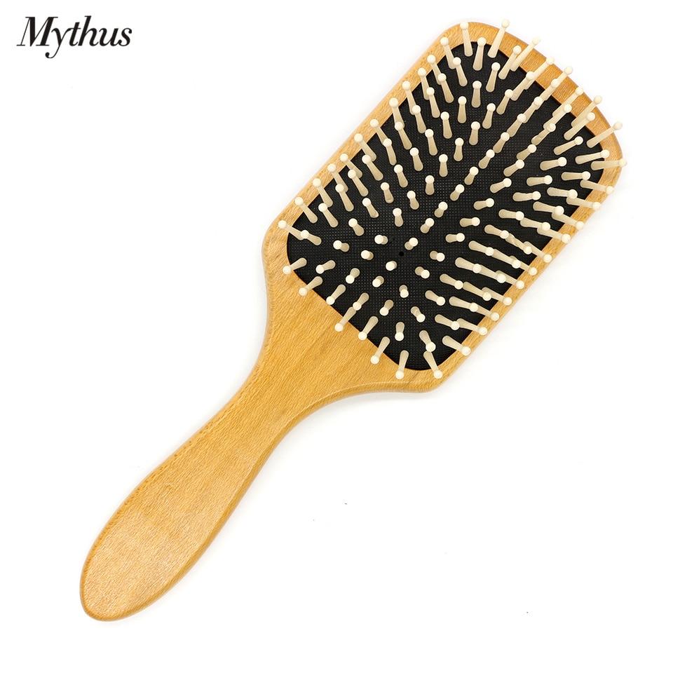 Mythus Paleta de madera Cepillo de pelo Cepillo de aire Cushion Brush - Cuidado del cabello y estilo - foto 2