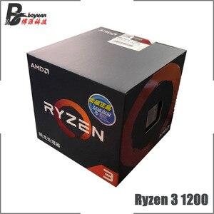 Image 1 - AMD Ryzen 3 1200 R3 1200 3.1 GHz 4 Nhân Quad Chủ Đề Bộ Vi Xử Lý CPU L2 = 2M l3 = 8M 65W YD1200BBM4KAE Ổ Cắm AM4 Mới Và Có Quạt