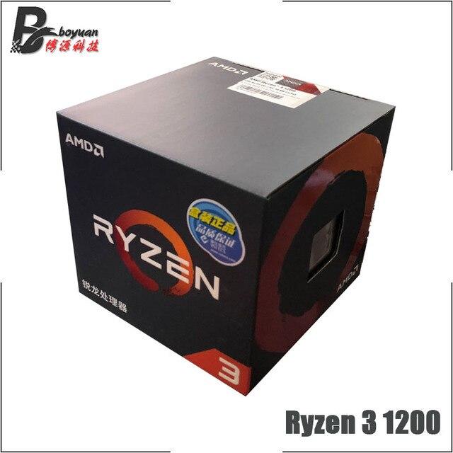 AMD Ryzen 3 1200 R3 1200 3.1 GHz Quad Core Quad Thread di CPU Processore L2 = 2M l3 = 8M 65W YD1200BBM4KAE Presa AM4 Nuovo e con il ventilatore