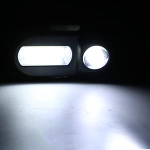 Image 5 - Sanyi Mini COB LED العلوي كشافات رئيس مصباح يدوي USB قابلة للشحن 18650 الشعلة التخييم التنزه ليلة مصباح الصيد