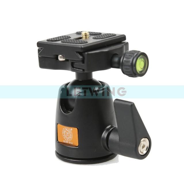 QZSD-01 girar 360 Graus Cabeça do Tripé Monopé Bola Cabeça Camera Ballhead com Placa de Liberação Rápida para Panoramas Atire