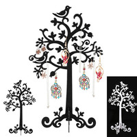 2016 Birds Tree Jewelry Stand Display Earring Necklace Ring Holder Organizer Rack Tower M23