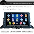 """10.2"""" Car NO-DVD Player Built-in GPS Navigation bluetooth support WIFI Mirror Link Android Car Radio for Toyota Highlander 2015"""