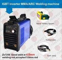 2016 free shipping ZX7 250 220v 250A MMA welder ARC welding machine 4.0mm welding rod accessories with helmet & clamp & handle