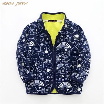 Gorąca wyprzedaż! 2018 jesień zima dzieci polarowe bluzy kurtki dziecięca odzież wierzchnia płaszcz dla chłopców dziewcząt 2-8 lat bluzy Cyy198 tanie i dobre opinie Stałe Unisex Mikrofibra COTTON Na co dzień REGULAR Pasuje prawda na wymiar weź swój normalny rozmiar Pełna kids sports jacket
