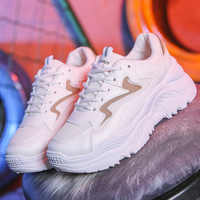 Women Shoes Fashion Vulcanize Shoes With 5cm Chunky Sneakers Women Casual Platform Dad Shoes Female White Basket Femme Krassovki