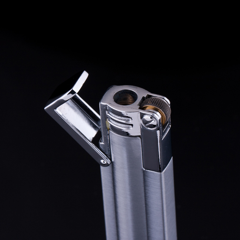 Image 5 - 2018 New Compact Jet Lighter Gas Torch Lighter Strip Gasoline Windproof All Metal Cigar Lighter 1300 C Butane Turbo Lighter-in Matches from Home & Garden