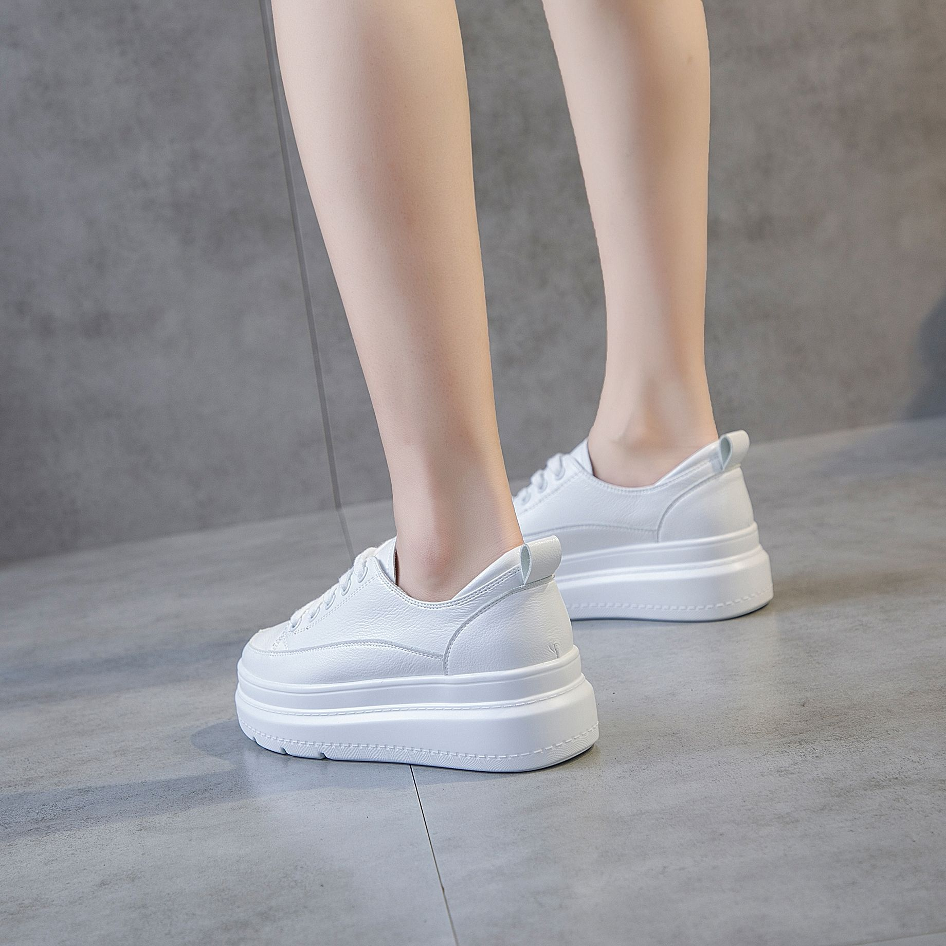 MFU22  2019 new top layer cowhide good quality white shoes womens shoes Korean version of the wild shoes JIANCMFU22  2019 new top layer cowhide good quality white shoes womens shoes Korean version of the wild shoes JIANC