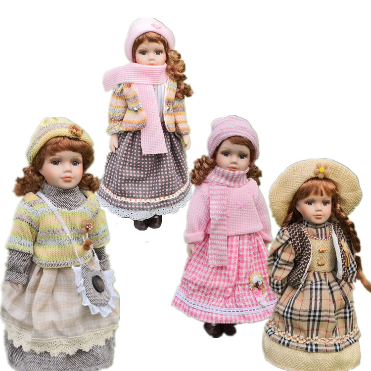 2018 News 40CM European Style Victoria Style Russia Ceramic Classical Doll Noble Porcelain Doll High Quality Toy Gift For Girl 1