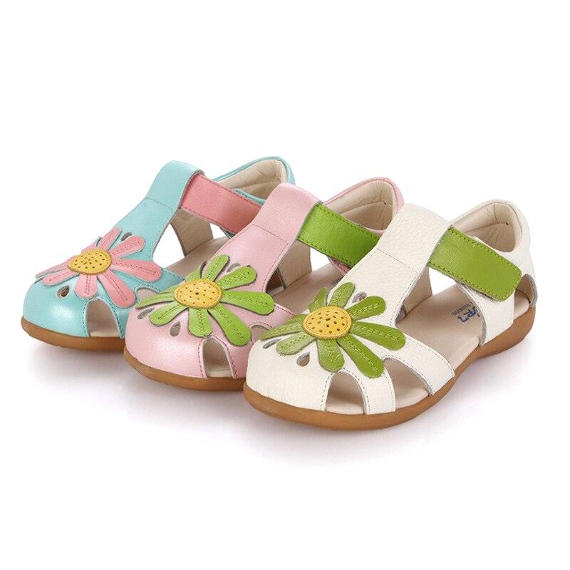 2017 Summer princess flower sandals children s shoes girls high quality comfort sandals shoes kids flat