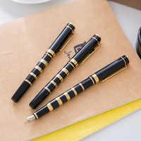 metal Portable Trim OFFICE BLACK GOLDEN 0.5MM 1.0MM gift Fountain Pen