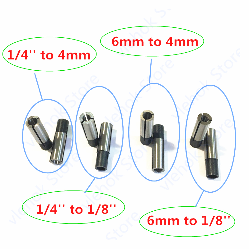Nut Cone Collet 6.35mm 6mm  Replace For Makita 76366-2 MTR050 MTR051 MT370 MT372 3701 3710 Electric Tools Part Router