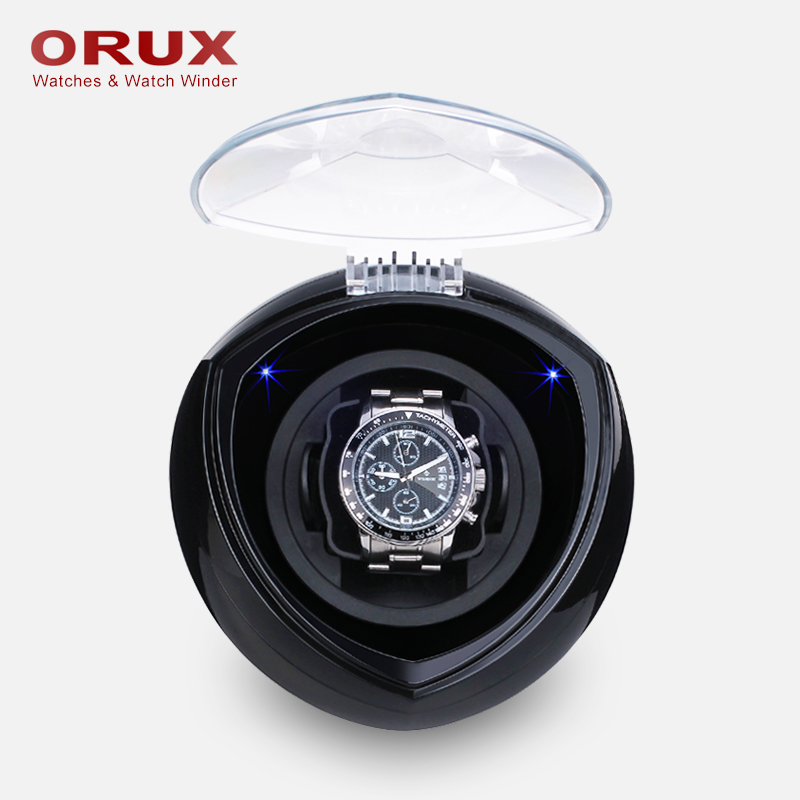 ORUX Black New Arrival White Single Watch Winder for automatic watches watch box automatic winder storage display case box jebely single cube watch winder ja 087 black