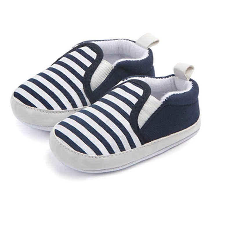 乳母車新生児ベビーキッズ幼児ファーストウォーカーストライプクラシック男の子靴ローファーベビー靴用0-18メートル
