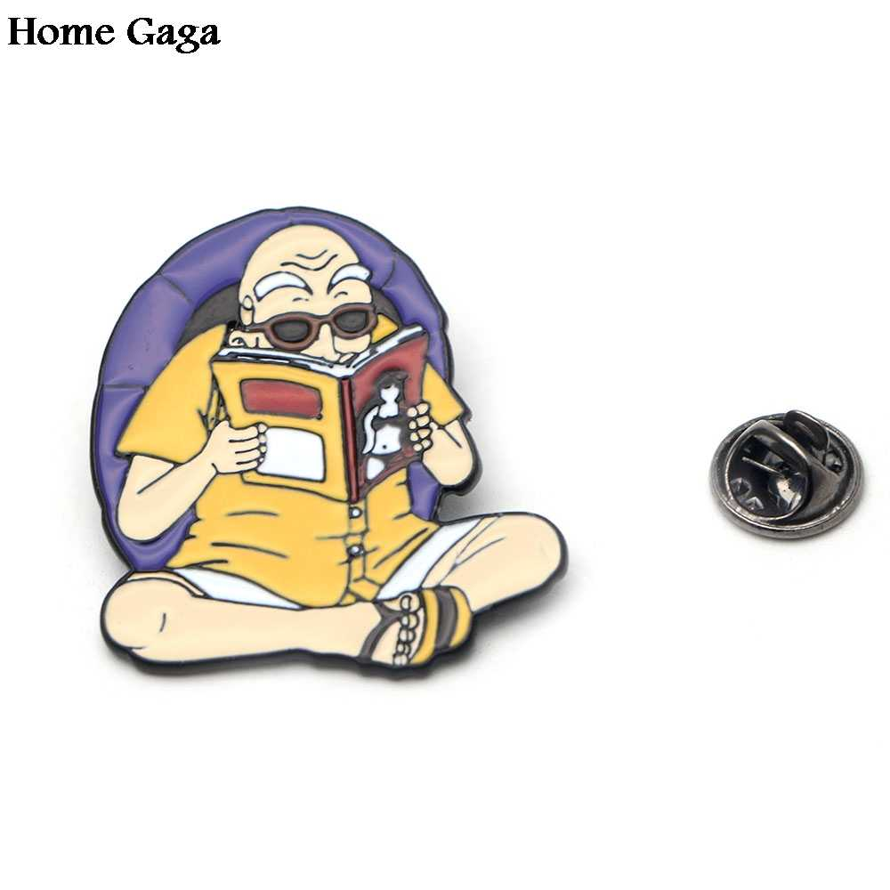 Homegaga Kame Sennin Pesona Kartun Pin untuk Kemeja Bros Lencana Pakaian Ransel Perhiasan Logam Lencana D0806