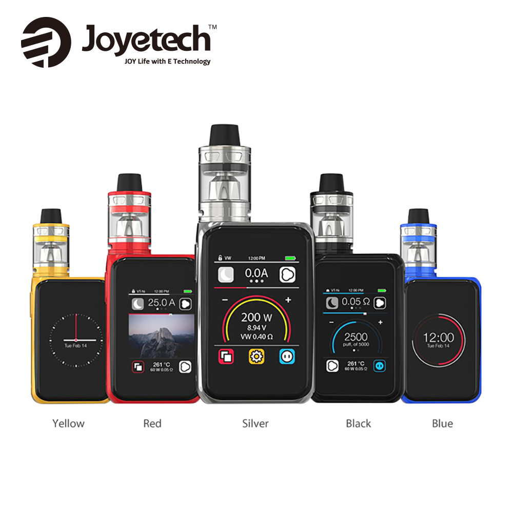 Original 200W Joyetech Cuboid Pro Touchscreen TC Kit W/ 4ml ProCore Aries Atomizer Tank Max 200W Output CUBOID Pro Mod Vape Kit original joyetech procore remix tank 2ml 4 5ml rta rda sub ohm atomizer support dual single coil electronic cigarette tank