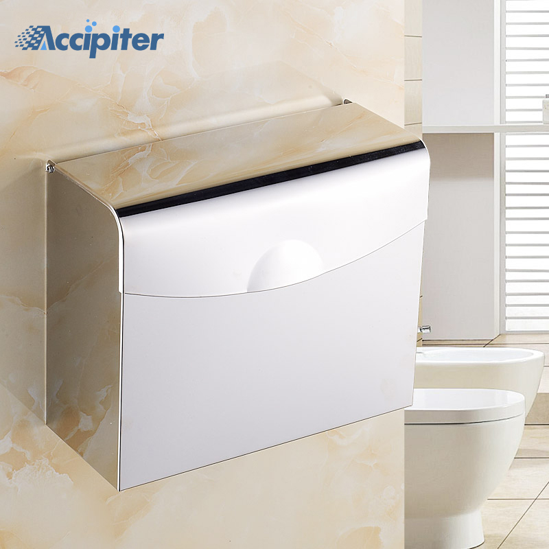 Wall Mounted Stainless Steel Lavatory Chrome Paper Holder ... on Wall Mounted Tissue Box Holder id=95674