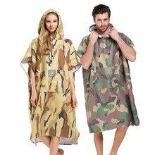 JUNGLE Camouflage กีฬาผ้าเช็ดตัวผ้าเช็ดตัวกลางแจ้งผู้ใหญ่เสื้อคลุมชายหาดผ้าเช็ดตัว Poncho เสื้อคลุมอาบน้ำผ้าขนหนูผู้หญิงเสื้อคลุมอาบน้ำ